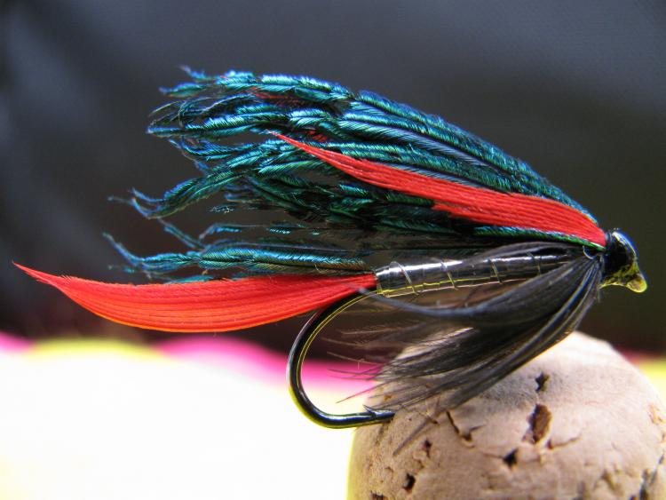 'the ALEXANDRA' (Veniard book 1980) on a n� 8 standard wet fly hook